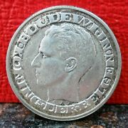Beautiful 1958 Silver 50 Francs From Belgium Only 382000 Minted Km 151.1