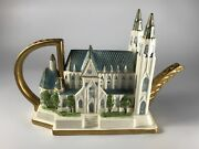 Vintage Fitz And Floyd 1995 Limited Edition St. Patrickand039s Cathedral Teapot
