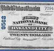 In 1902 20  ♚♚ Oakland City,indiana ♚♚  Rare Note