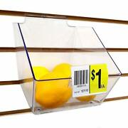 Acrylic Bin Label Holder With 2 X 1.5 Sign Card Ticket Protecting Slot