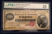 1882 20 Gold Coin Certificate Lyons/roberts Fr. 1178 Pmg Graded Very Fine 25