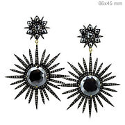 3.70 Ct Pave Diamond 925 Silver Spinel Designer Dangle Earrings 14k Gold Jewelry