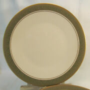 Franciscan Masterpiece China Antique Green Four 4 Dinner Plates Reduced