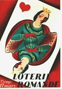 Original Vintage Poster Swiss Lottery Playing Card C.1945