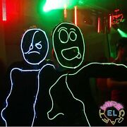 Glow Stickman Set - Neon Stick Man Made From El Wire - Just Attach To A Costume