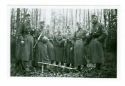 German Army Soldiers With Mg34 And Drum Magazine Russia. Original Ww2 Photo