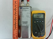Csi High Voltage Capacitor 1 Uf 3500 Vac Laser Tesla Ham Tested With Dvm As Seen
