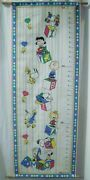 Vintage Peanuts Snoopy Charlie Brown And Gang Fabric Growth Chart