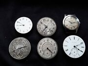 Lot Of 6 Vintage Watches. 5 Pocket And 1 Wrist