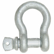 1andrdquo - 1 1/8 Pin Us Type Bow Shackle Boat Marine Hot Dip Galvanized