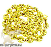 24 8.5mm 32 Grams 14k Yellow Gold Anchor Mariner Fancy Chain Necklace
