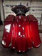 Harley Davidson 6down 9back Extended Bags/led Fender With 8x8 Lids 97-2008