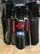 6down And Out Extended Saddlebags/led Fender With 8x8 Lids For Touring 96-2013