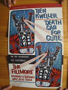 Ben Kweller Poster Death Cab For A Cutie The Thermals Fillmore Bens Radish