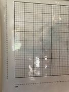 Pull Down School Graphing Map. Vintage Salvage Old Antique.
