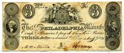 3 Salem And Philadelphia Manufacturing Co Nj - 1828 New Jersey Obsolete Currency