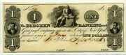 1 Hoboken Banking And Grazing Co Nj - 1826 Cu - Ex Q David Bowers Ref Banknote