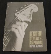 1968 Fender Guitar And Amplifier Service Manual -strat Tele Amps And More