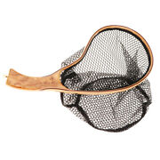 Fly Fishing Landing Net Mesh Trout Catch And Release Nets With Wooden Handle