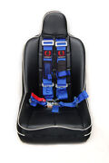 Cipher Auto Racing Harness -blue 5 Point 3 W/ Snap Hook And Eye Bolts - Single