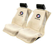 Seat Armour 2 Piece Front Car Seat Covers For Buick - Tan Terry Cloth