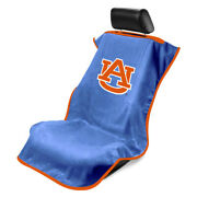 Seat Armour Front Car Seat Cover For Ncaa Auburn University - Blue Terry Cloth