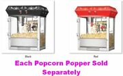 Great Northern Popcorn 6oz Old-fashioned Movie Theater 500w Deluxe Popper 2 Hues