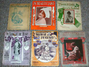 Vintage Lot Sheet Music Old Antique Estate Find Song Of Heart Care If Parted Gs