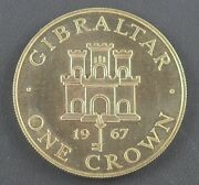 Gibraltar 1967 Castle And Key Silver Proof Crown - Boxed
