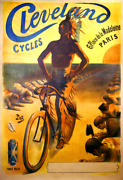 Cleveland Cycles Vintage Bicycle Poster Print By Pal - Cycling