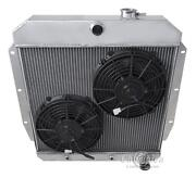 4 Row Discount Champion Radiator W/ 2 10 Fans For 1955 - 1959 Chevy Truck