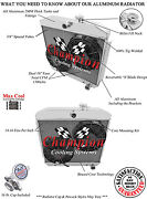 3 Row Champion Radiator Dr V8 Mount 55 - 57 Chevy Nomad 2 X 10 Fan Combo