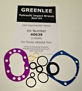 Seal Kit - Greenlee / Fairmont H6505a Hydraulic Impact Wrench Seal Kit No. 40639