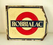 Vintage Old Collectible Robbialac Paint Ad Both Side Porcelain Enamel Sign Board