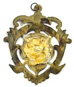 Decorative Medallion Ornaments Old Vintage Collectible Silver Plated. G29-102 Us
