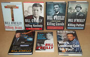7 Bill O'reilly Books 4 Killing Jesus Kennedy Lincoln Patton Who's Looking Out