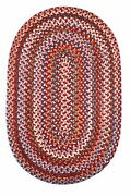 Astoria Wool Country Home Casual Accent Flat Braided Rug Red Velvet As42