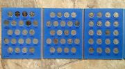 Complete 1913 - 1938 P, D And S Indian / Buffalo Nickels 64 Coins In Whitman Book