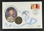 Gibraltar 1996 Andpound5 Pound 70th Birthday Of Queen Elizabeth Ii Coin Stamp Cover Fdc