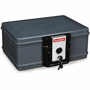 Fire Safe Chest Waterproof Fireproof Box Security Key Lock Home Sentry Portable