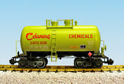 Usa Trains G Scale Beer Can Tank Car R15211 Celanese Chemicals - Green