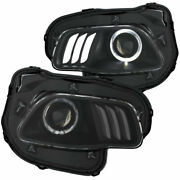 Anzo Usa Projector Headlights Black/white W/ Halo Led For Jeep Cherokee 14-17