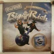 Big And Rich Poster Album Promo 2 Sided Comin' To Your City Riding Globe And