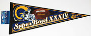 1999 St. Louis Rams Super Bowl Xxxiv Nfc Champs Full Size 28 Nfl Pennant Nwt