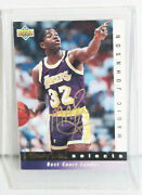 1992-93 Upper Deck Selects Magic Johnson Signed Card Sw10 L.a. Lakers Autograph