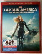 Captain America The Winter Soldiers Blu-ray 3d + Blu-ray + Digital Hd