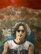 Awesome Rare Beatles John Lennon T Shirt All Over Tie-dyed Print, Pre-owned Xl