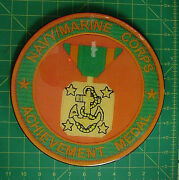 Navy-marine Corps Achievement Medal Wall Plaque. Museum Quality And Classic Style