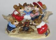 Wee Forest Folk - M-297a Beach Party 4th Of July R/w/b Special