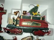 Holiday Station Musical Train 385 New Bright G Scale Railroad Tender Tree Top
